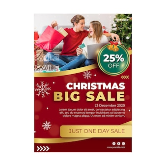Christmas sales ad flyer template