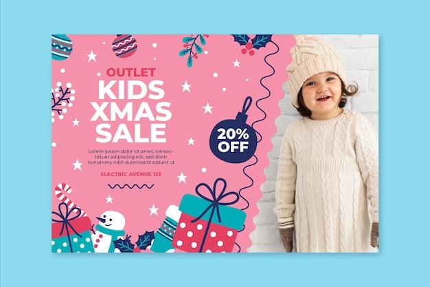 크리스마스 판매 배너 개념