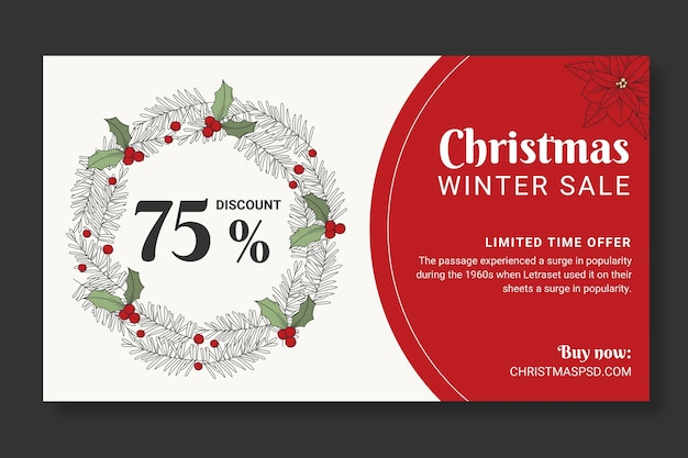 Christmas sales banner template