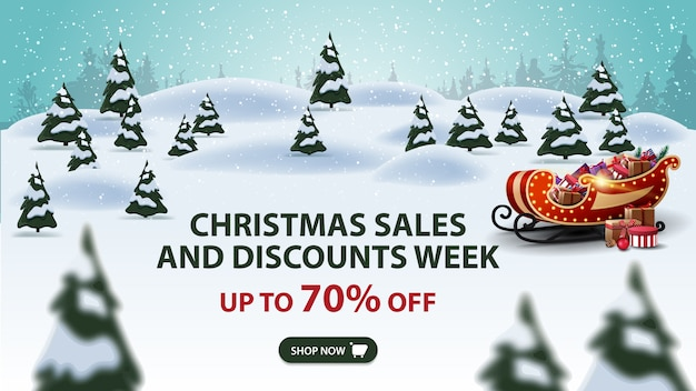 Christmas sales and discount week banner