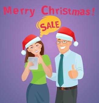 Christmas sales e-commerce concept