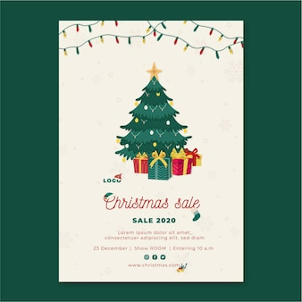 Christmas sales flyer vertical