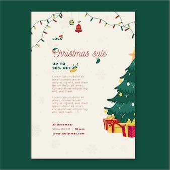크리스마스 판매 전단지 수직