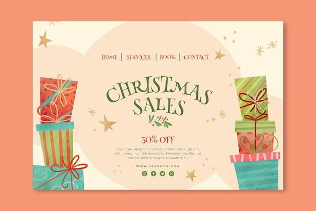 クリスマスセールのランディングページのコンセプト