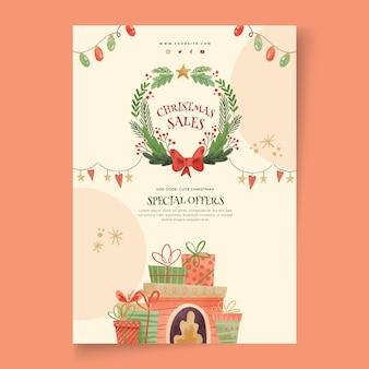 Рождественские продажи плакат a4