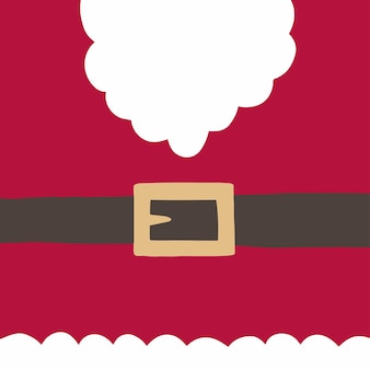 クリスマスサンタ背景ソーシャルメディア投稿フラットベクトルイラスト