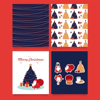 크리스마스 산타 클로스-카드