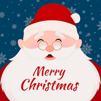 Christmas santa claus character with lettering