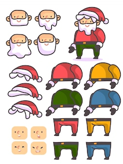 Christmas santa claus custom character