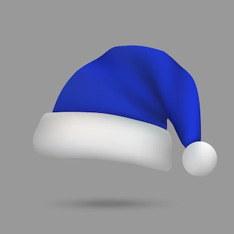 Christmas santa claus hat isolated