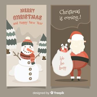 Christmas santa claus sepia banner