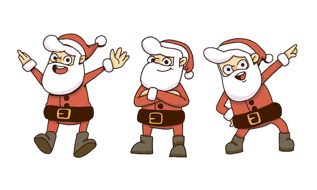 Christmas santa claus set