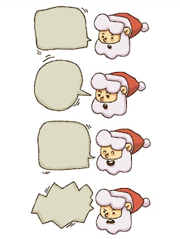 Christmas santa claus speech bubble chat