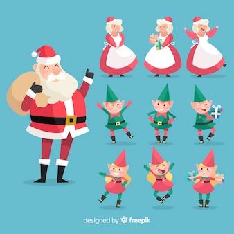 Christmas santa collection