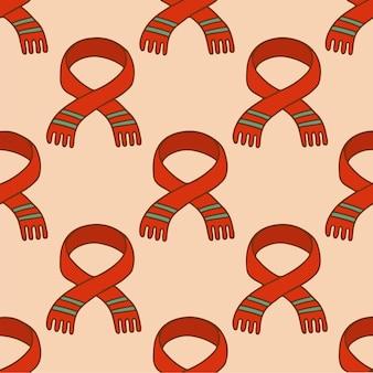 クリスマススカーフパターン背景ソーシャルメディア投稿クリスマスベクトルイラスト