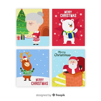 Christmas scenes cards collection