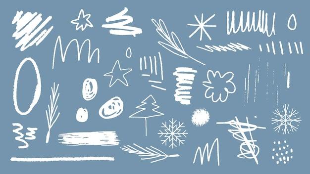 Рождественские каракули узор фона вектор