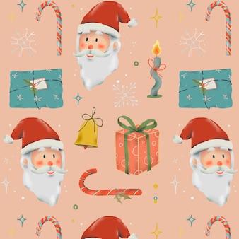 Christmas seamless background, cute holidays season pattern vector