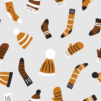 Рождественский фон. разноцветные носки. векторная иллюстрация