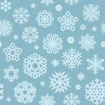 Christmas seamless blue pattern with a snowflakes