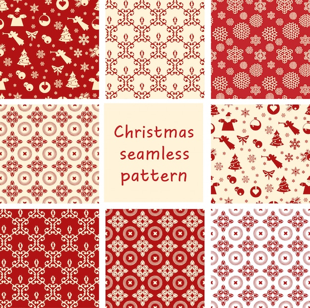 Christmas seamless floral