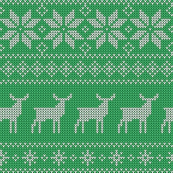 Christmas seamless green pattern.