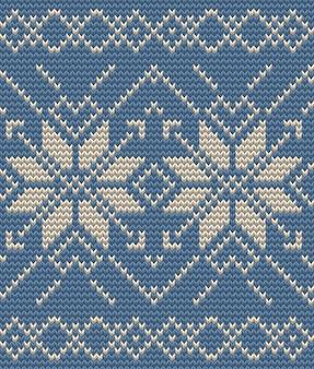 クリスマスのシームレスな編み物の背景。