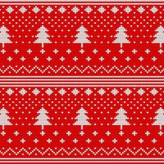 Рождественский бесшовный образец для вязания