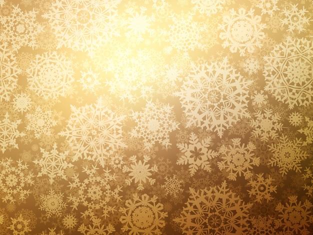 雪のクリスマスのシームレスなパターン背景。
