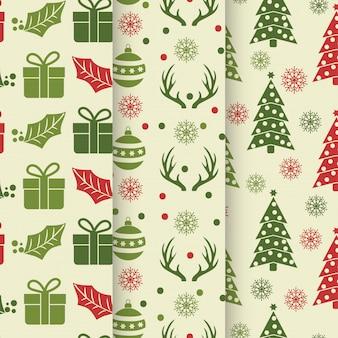 クリスマスシームレスなパターンのコレクション