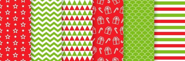 クリスマスのシームレスなパターンのカラフルなデザイン