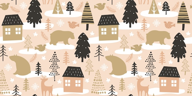 Christmas seamless pattern for decoration