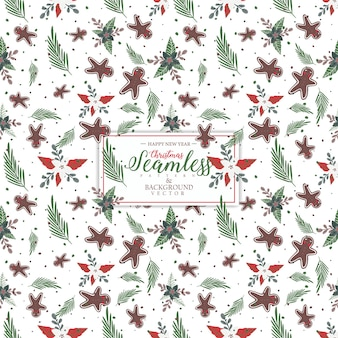 Christmas seamless pattern design.blank space for text input.