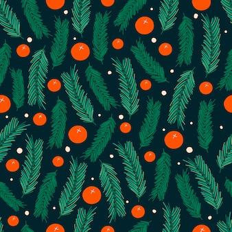 クリスマスのシームレスなパターンデザイン