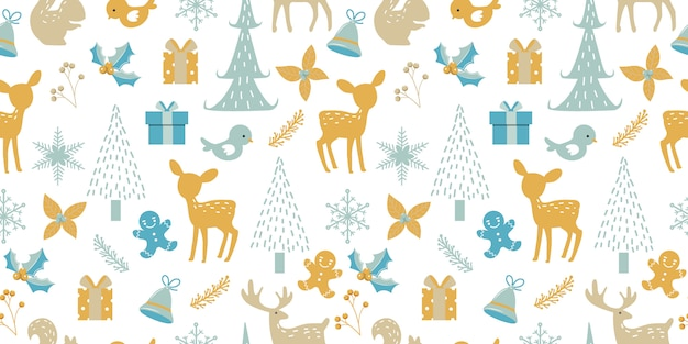 クリスマスの装飾のためのシームレスなパターン