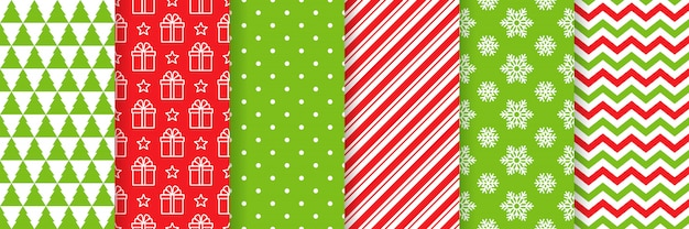 Christmas seamless pattern. holiday background.  . red green illustration