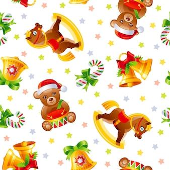 クリスマスのシームレスなパターンイラスト
