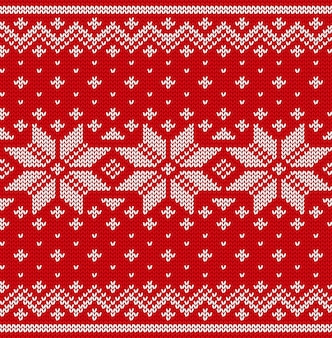 Christmas seamless pattern. knit scandinavian design