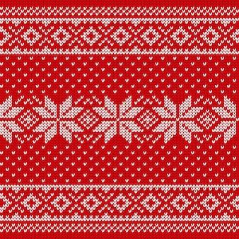 Christmas seamless pattern knitted
