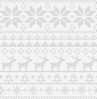 クリスマスのシームレスなパターン。北欧スタイルのベクトル飾り