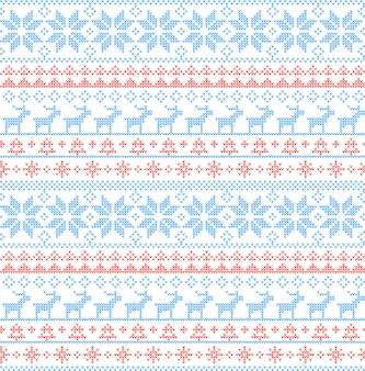 Christmas seamless pattern nordic style