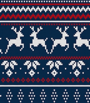 Christmas seamless pattern or scandynavian pattern, illustration winter traditional fabric ornament.
