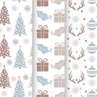 クリスマスシームレスパターンセット