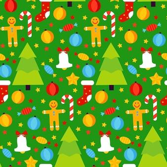 Рождество бесшовные модели. векторные иллюстрации. зимний праздник фон.