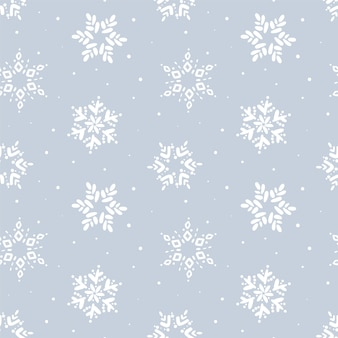 Christmas seamless pattern. winter snowflake  pattern