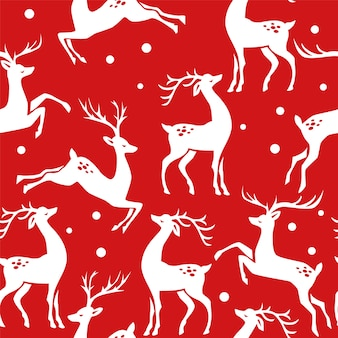 Christmas seamless pattern with deer.