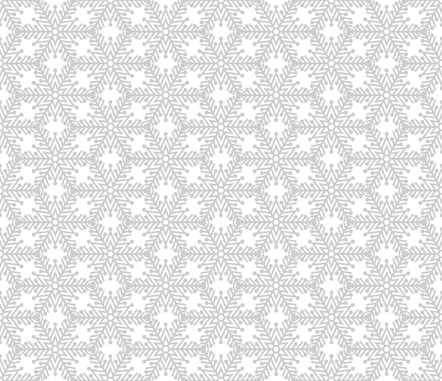 Christmas seamless pattern with grey snowflakes