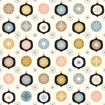 Christmas seamless pattern with ornaments