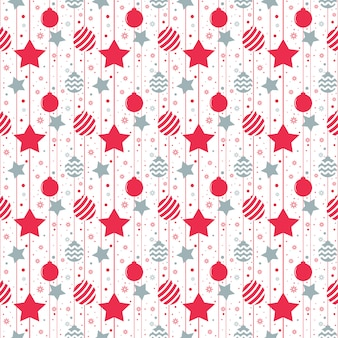 Christmas seamless pattern with stars. vector illustration