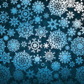 様式化された雪の結晶クリスマスのシームレスパターン